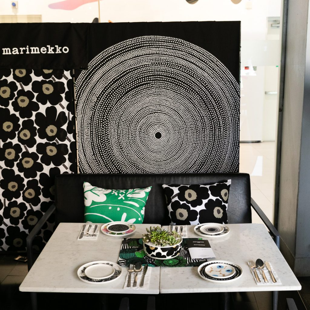Greyhound Cafe & Marimekko decoration
